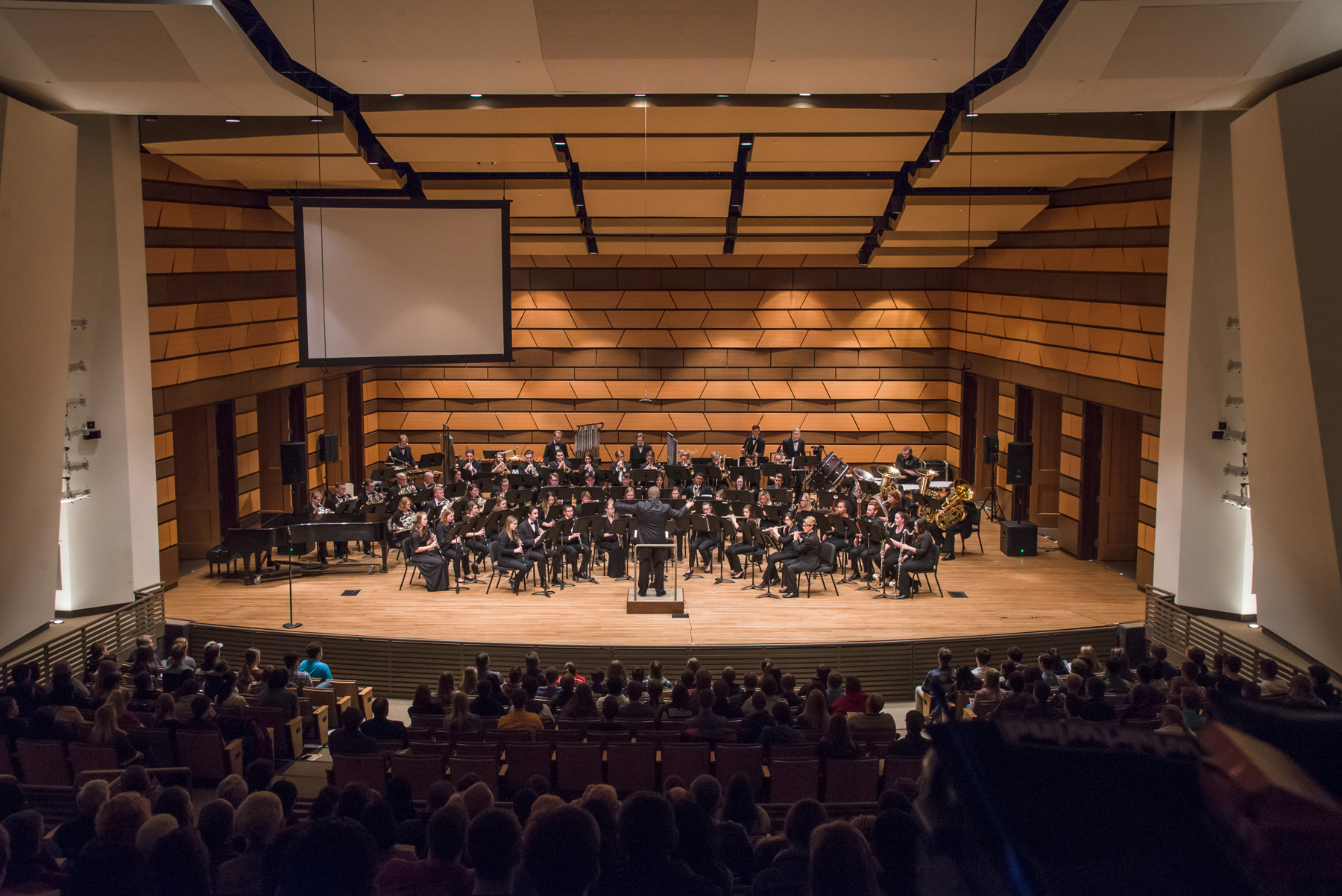 The CSU Symphonic Band, conducted by Dr. Richard Frey