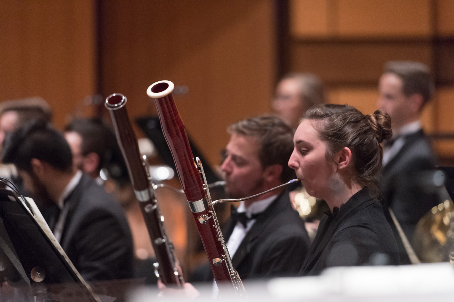 Bassoon players in the CSU Concert Band