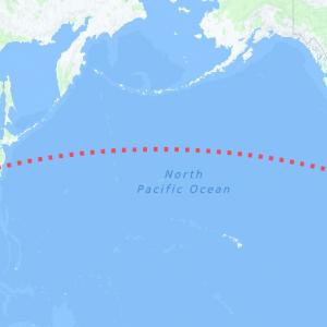 North Pacific Ocean Map
