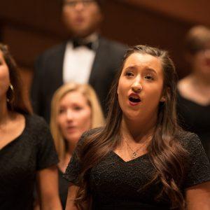 Female choir student