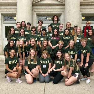 2019 Drum Major and Leadership Institute students