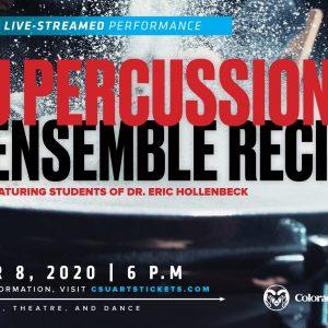 Percussion Ensemble 2020 Recital promotional screen