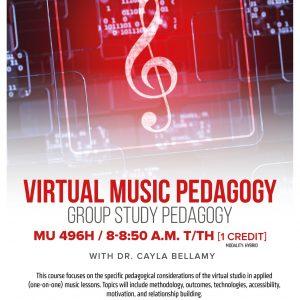 Virtual Music Pedagogy promotional flyer