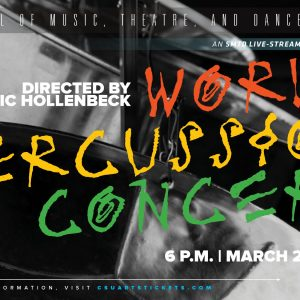 World Percussion Concert promotional screen