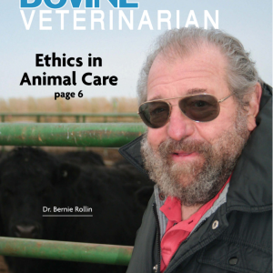 Dr. Bernie Rollin on cover of Bovine Veterinarian magazine