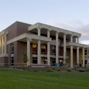 Exterior of Griffin Concert Hall