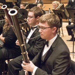 Bassoon section of the Symphonic Band pictured
