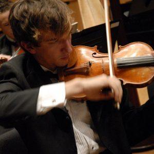 Concert Orchestra violinist pictured