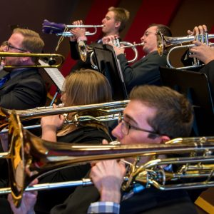 The CSU Jazz Ensembles in rehearsal