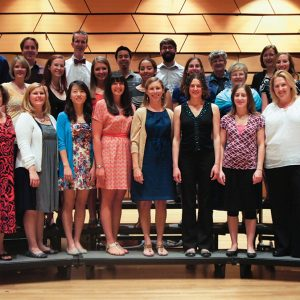 Kodaly Choir on Griffin Concert Hall stage