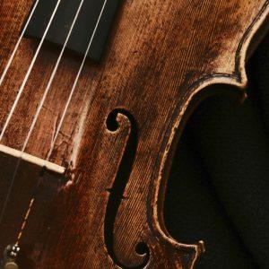 Instrument Photo Closeup of Old Violin