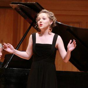 A CSU student voice recital pictured
