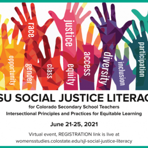 CSU Social Justice Literacy promotional graphic