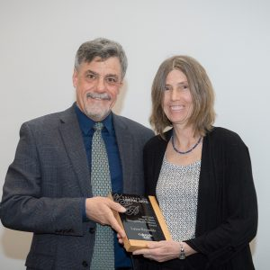 Laura Reynolds receives award from dean of college