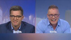 Michael Carolan being interviewed on 1 News Now