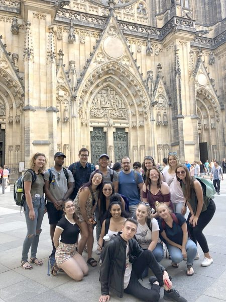 CSU students in Prague
