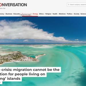 screenshot of Conversation headline