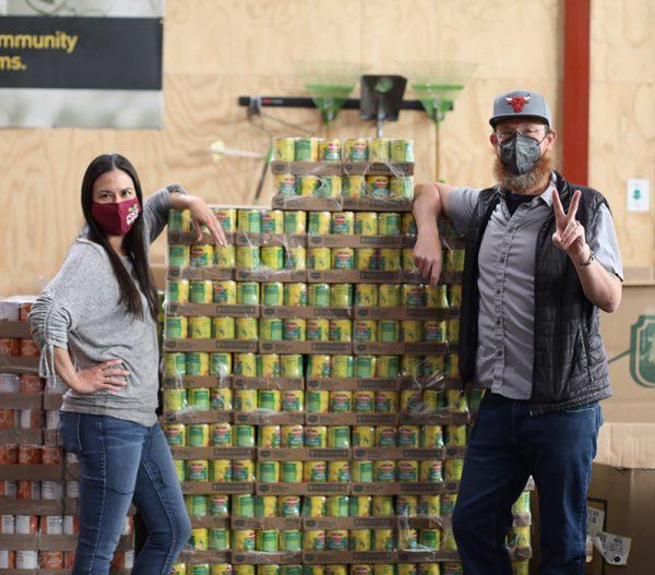 Jason Downing at Food Bank