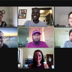 screenshots of cohort meeting virtually
