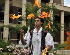 Bryan Connolly juggling fire