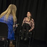 Social Work student Bea Lewis and Theatre student Rachel Rhoades