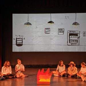 A group of kids perform during Kids Do It All summer music-theatre camp at CSU