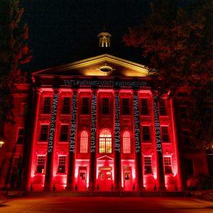 UCA Building pictured at Night
