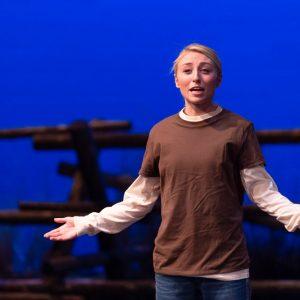 Theatre student Sydney Fleischman in The Laramie Project