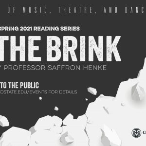 ON THE BRINK Reading Series promotional screen