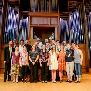 2017 Organ Week students are pictured in front of the Casavant Organ