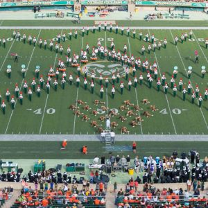 CSU Marching Band performs half time at Hughes Stadium