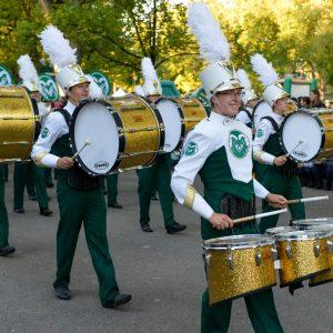 CSU Marching Band drumline