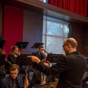 Dr. Peter Sommer rehearses the CSU Jazz Ensembles