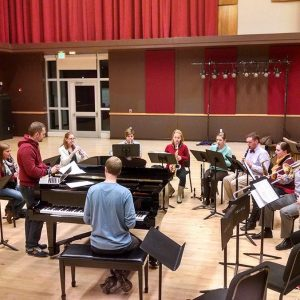 Rehearsal with the New Music Ensemble