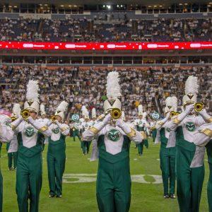 CSU Marching Band trumpets