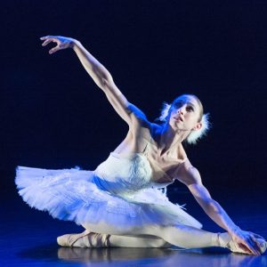 Ballerina performing the Dying Swan