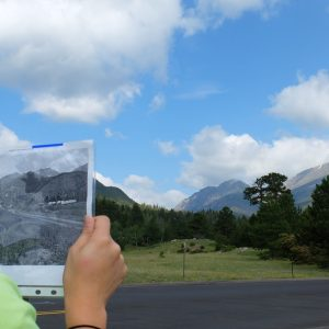 Students use photography as part of a public history research project in RMNP