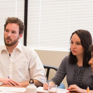 Colorado State University Sociology students run a focus group sesson with City of Fort Collins employees, March 8, 2013.