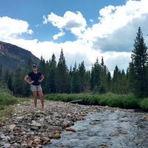 Maggie Jones in Rocky Mountain National Park.