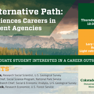 panel discussion for social sciences careers in government agencies