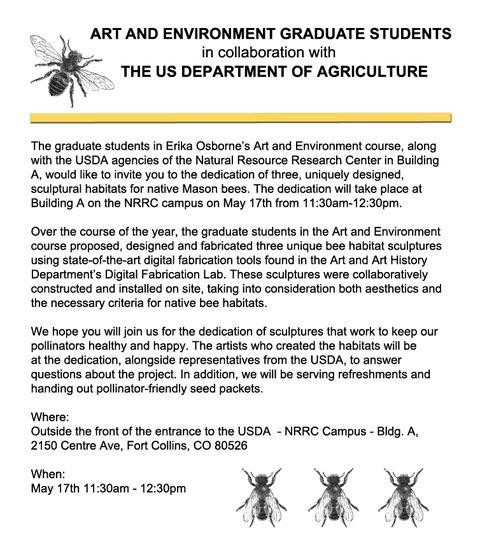 Flyer for Bee Exhibit