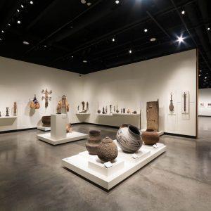 African Gallery exhibit inside the Gregory Allicar Museum of Art