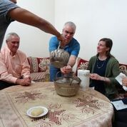 Professor Adrian Howkins learning about the culture of Morocco by locals