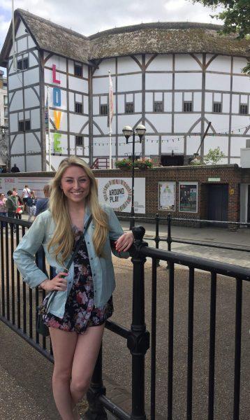 Sydney Fleischman visiting Stratford-upon-Avon, Shakespeare's birthplace