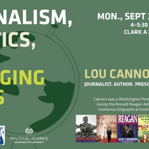 Event details for Lou Cannon's presentation