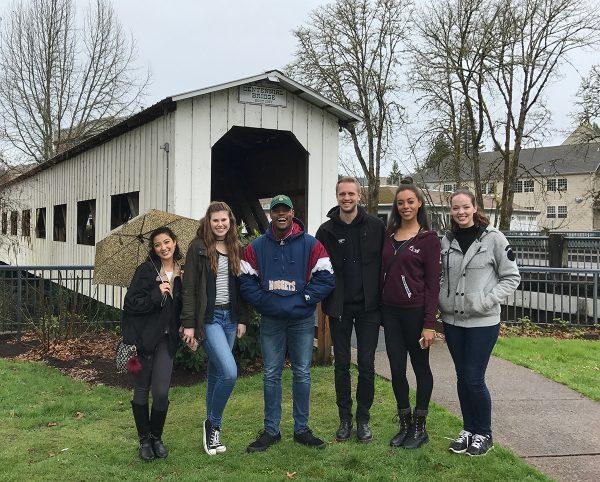 CSU Students at Centennial Bridge