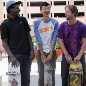 photo of three men with skates boards from documentary Minding the Gap