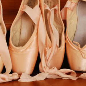 A photo of ballet slippers