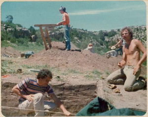 CSU students working hard at the 1975 archaeology field school