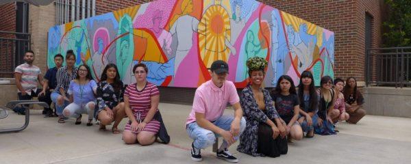 CSU mentor mural group photo